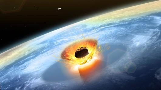Asteroid: So dürfte etwa der Einschlag auf die Erde ausgesehen haben. (Symbolbild)