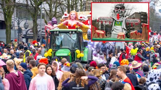 Karneval in Düsseldorf: Der Rosenmontagszug war überschattet von einer Riesen-Diskussion. (Symbolbild)