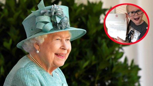 Ein kleiner Junge hat den Royals um Queen Elizabeth II. geschrieben – und prompt Antwort erhalten.