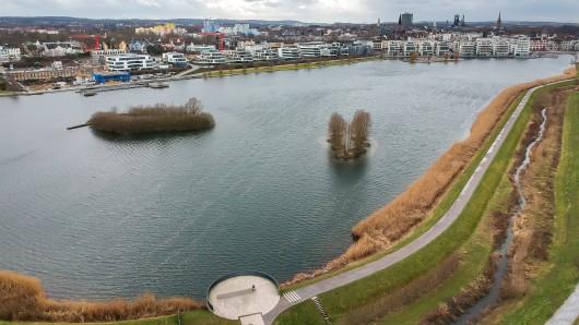 Kommunalwahl Dortmund: Auf dem Phenix See fuhren SPD-Segelboote, weil dort hoher Besuch war. (Symbolbild)
