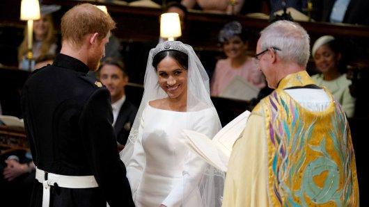 Meghan Markle und Prinz Harry bei ihrer Hochzeit in Windsor am 19. Mai 2018.