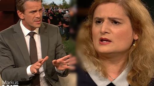 Markus Lanz ist entsetzt als sein Gast Tina Chittom sich rassistisch äußert.