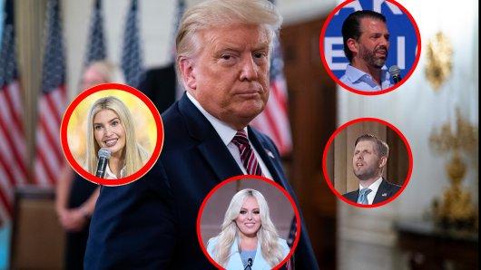 Donald Trump hat viele Kinder: Theoretisch könnte eines von ihnen für die Präsidentschafts-Kandidatur 2024 in Frage kommen.