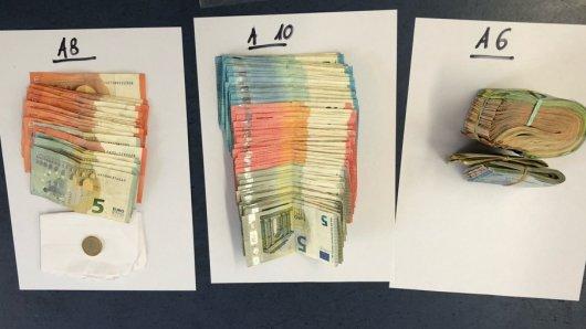 Essen: Die Polizei beschlagnahmte eine fünfstellige Bargeldsumme.