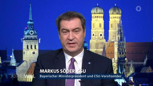 """CSU-Chef Markus Söder hatte bei einer Frage am Sonntagabend bei """"Anne Will"""" (ARD) nicht so ganz aufgepasst."""