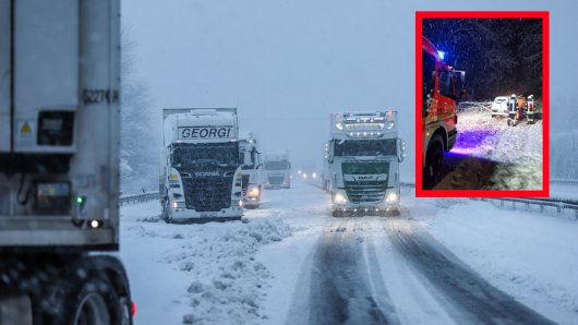 Wetter in NRW: Am Sonntag kam es zu einem Schneechaos auf der A1 und in Ruhrgebietsstädten.