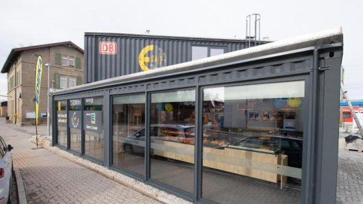 Der Container eines voll automatisierten Edeka-Supermarktes.