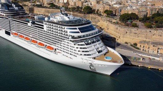 Kreuzfahrtschiff MSC Grandiosa in Valletta auf Malta - MSC Cruises hat neue Routen für den Sommer angekündigt.