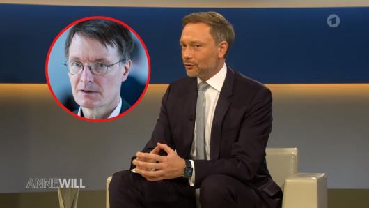 """Als Karl Lauterbach (SPD) Christian Lindner (FDO) bei """"Anne Will"""" zuhörte, reagierte er sofort auf Twitter."""