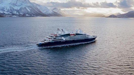 Kreuzfahrtschiff Le Bougainville von Ponant:Die französische Reederei verlangt vonCrew und Passagieren eine Corona-Impfung.