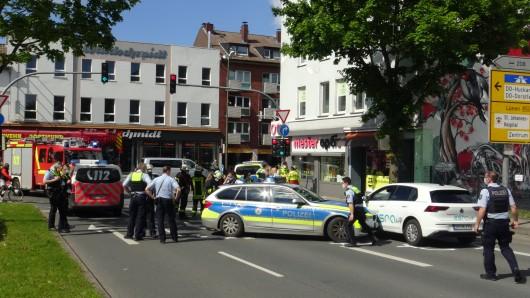 Dortmund: Ein Polizei-Streifenwagen krachte auf einen Pkw.