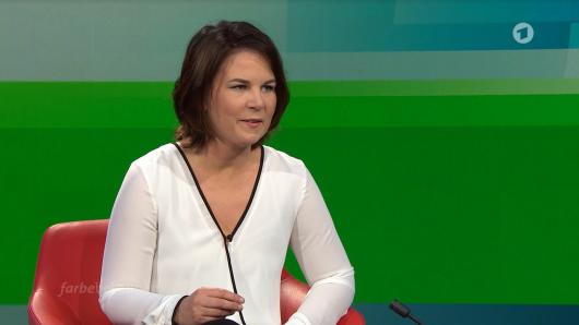 Annalena Baerbock (Grüne) musste sich im Talk vor allem Fragen zu ihrem Lebenslauf gefallen lassen.