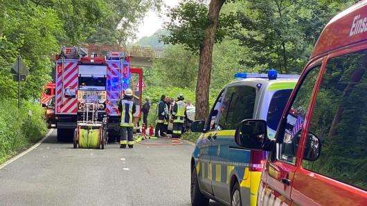 Essen: Eine Person wurde bei einem schweren Autounfall getötet.