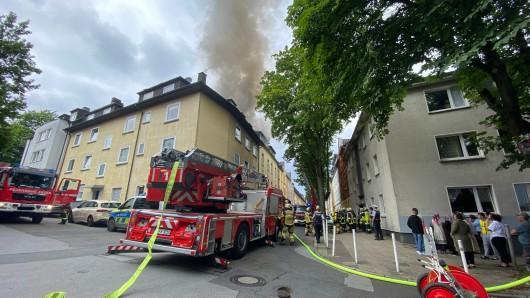 Essen: Eine Dachgeschosswohnung stand vollständig in Flammen.