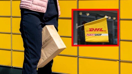 DHL: Eine Frau kann die Kosten für einen Auslandsversand nicht fassen. (Symbolbild)