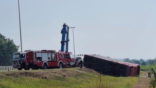 In Kroatien hat sich ein schlimmer Busunfall ereignet.