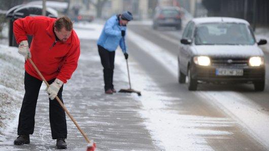 Leichter Schneefall in Bochum