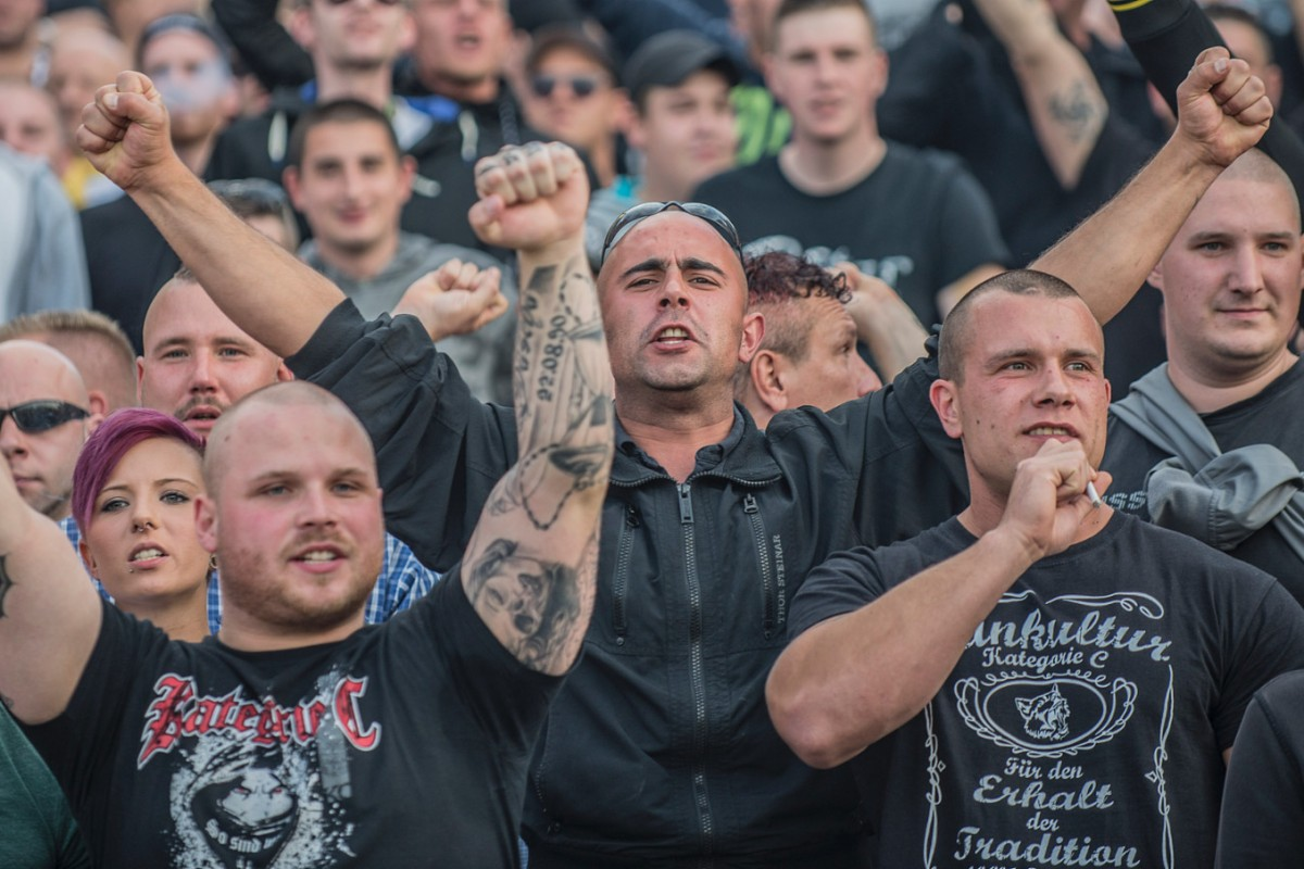 Köln Demo Hooligans