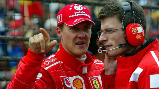 Michael Schumacher 2003 in Indianapolis.