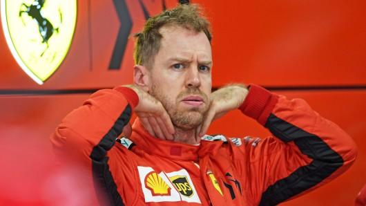 Schock für Sebastian Vettel.