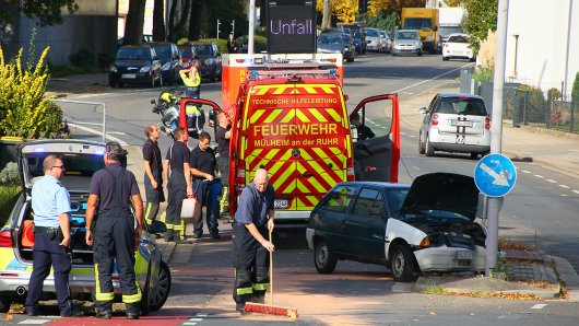 Unfall auf der Nordstraße in Mülheim.