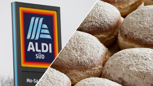 Eine Aldi-Kundin gönnte sich einen Berliner. Als sie reinbiss, war sie sehr verwundert.