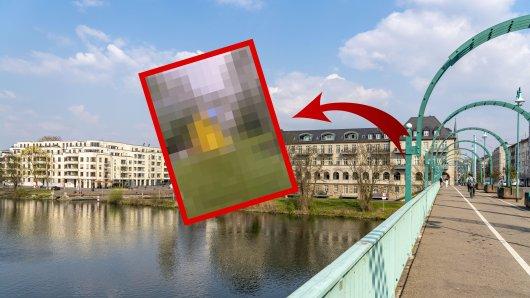 Mülheim: Nahe der Schlossbrücke zieht eine gelbe Holzbox die Blicke auf sich. Was steckt dahinter?