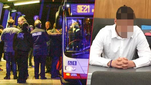 Ramadan K. (r.) soll bei einem Streit an der Bushaltestelle Lipperfeld in Oberhausen einen Mann erstochen haben.