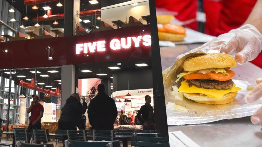 """Im Centro Oberhausen hat am Montag die US-Burgerkette """"Five Guys"""" eröffnet."""