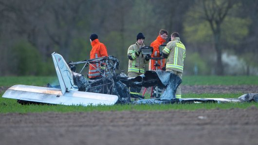 Ein abgestrüztes Ultraleichtflugzeug. Symbolbild.