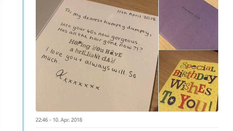 Botschaft Nach Dem Tod Mann Bekommt Geburtstagskarte Von