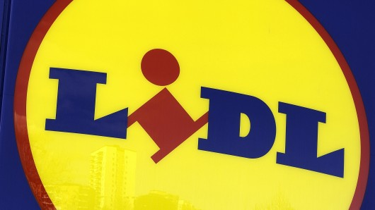Solna, Sweden - March 23, 2012: Sign of a Lidl store. Lidl is a discount supermarket chain based in Germany that operates over 10 000 stores across Europe.