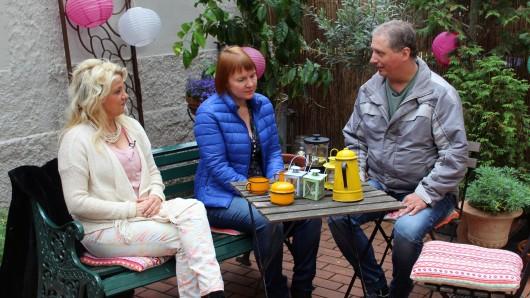 Kerstin, Daniela und Fernfahrer Marco.