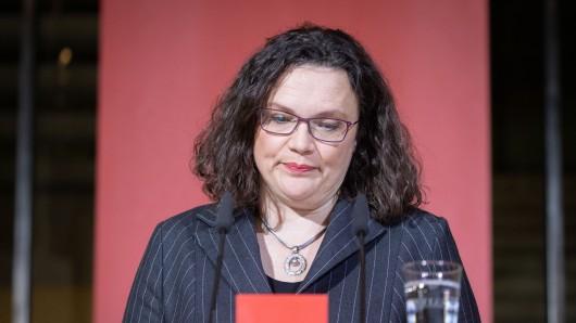 Andrea Nahles' SPD schlittert immer weiter in die Krise. (Achivbild)