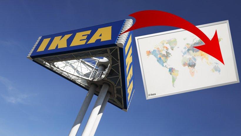 Ikea Verkauft Weltkarte Und Vergisst Ein Land Vollstandig Panorama