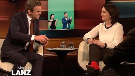 Annalena Baerbock, Parteivorsitzende der Grünen, war am Dienstag bei Markus Lanz zu Gast.