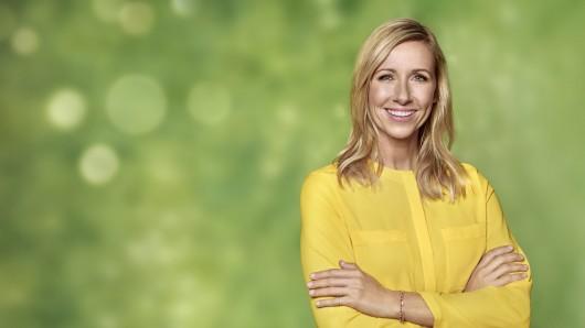Sie moderiert den Fernsehgarten im ZDF: Andrea 'Kiwi' Kiewel.