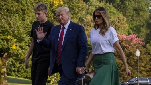 Hat US-Präsident Donald Trump etwa vergessen, dass er noch einen Sohn hat...zusammen? (Symbolfoto)