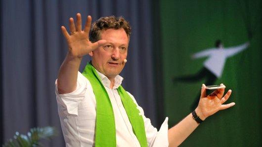 Dr. Eckart von Hirschhausen. Hier bei einem Auftritt auf dem evangelischen Kirchentag in Dortmund.
