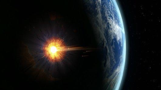 Ein Asteroid raste auf die Erde zu.