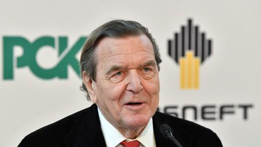 Der ehemalige Bundeskanzler und Aufsichtsratsvorsitzender des russischen Ölkonzerns Rosneft, Gerhard Schröder.