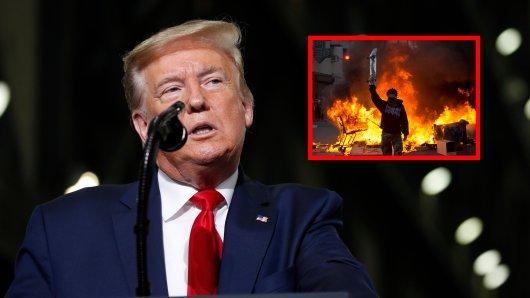 Da die Proteste in den USA nicht aufhören, will Donald Trump drastische Maßnahmen einleiten.