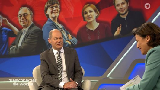 SPD-Kanzlerkandidat Olaf Scholz in der ARD-Talkshow von Sandra Maischberger.