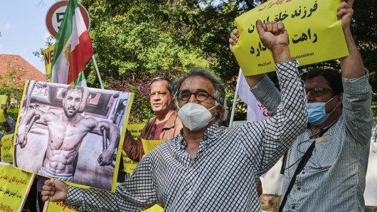 Die Hinrichtung von Ringer Afkari im Iran löste Proteste aus.