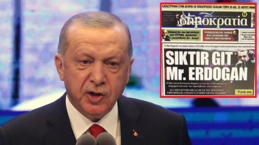 Eine griechische Tageszeitung hat Türkei-Präsident Erdogan schwer beleidigt.