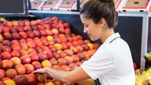 Beliebte Äpfel aus Südtirol im Supermarkt (Symbolbild).