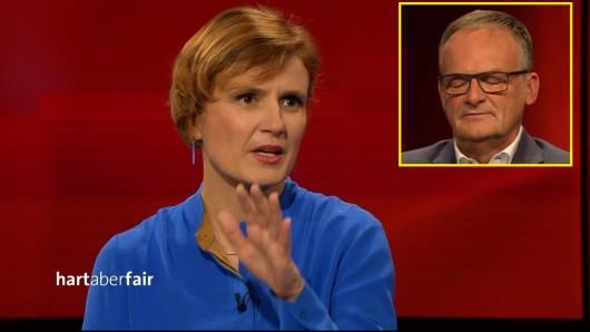 """Bei """"Hart aber fair"""" ist es schon früh zur Sache gegangen. Moderator Frank Plasberg hat seine Gefühlslage nicht verbergen können..."""