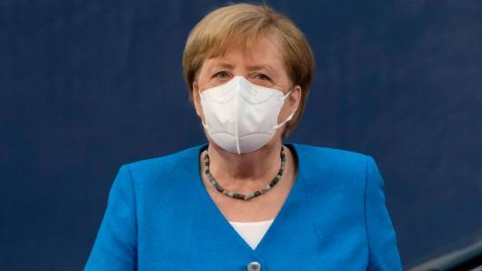 Bundeskanzlerin Angela Merkel bei einem EU-Sondergipfel in Brüssel.