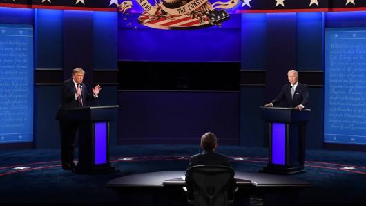 US-Präsident Donald Trump und sein demokratischer Herausforderer Joe Biden haben sich eine chaotische TV-Debatte geliefert.