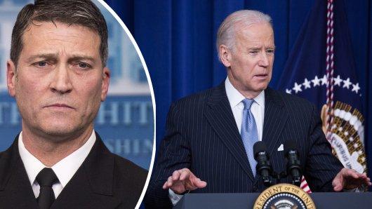 Obamas ehemaliger Leibarzt Ronny Jackson gibt sich besorgt um Joe Biden.